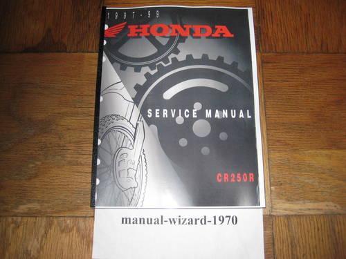 1997-1999 CR250R CR250 CR 250 Service Shop Repair Manual Part# 61KZ352