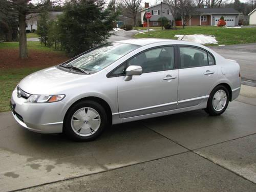 2007 honda civic hybrid silver 4 door automatic 70k miles in falconer new york new. Black Bedroom Furniture Sets. Home Design Ideas