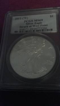 2011-W Silver Liberty Dollar MS 69 PCGS...WEST POINT LABEL!!!