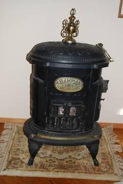 Antique 1890's era Champion Potbelly Stove