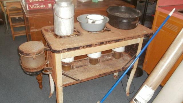 Antique crocks and dressers