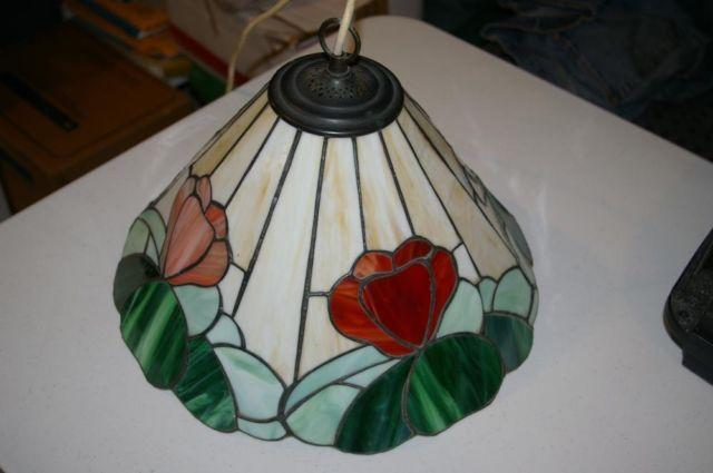 antique leaded stained glass lamp shade from england in beekmantown. Black Bedroom Furniture Sets. Home Design Ideas