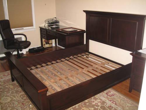 Bedroom set pottery barn Hudson armoire drawers queens bed..SEE ...
