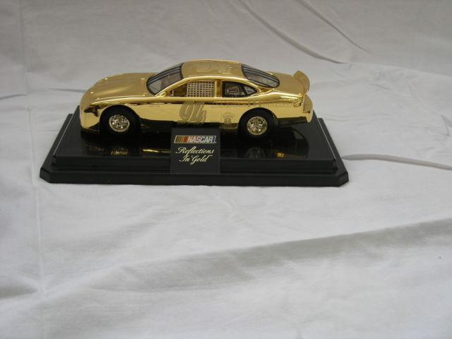 Bill Elliott 24 Gold Plated die cast Nascar Collector car LIKE NEW