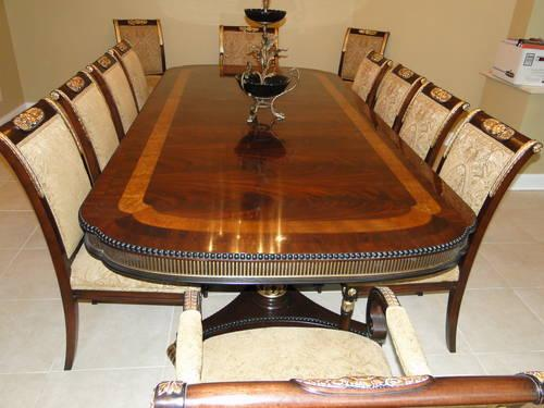 Ej victor regency dining room table and chairs in