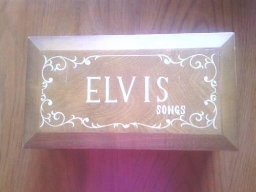 Elvis presly wooden music box plays 8 different songs