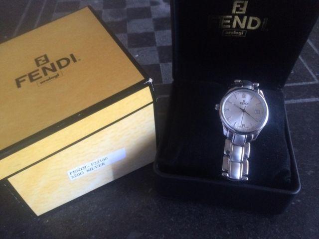FENDI Orologi Men?s Watch F22160 220G Silver NEW in original box