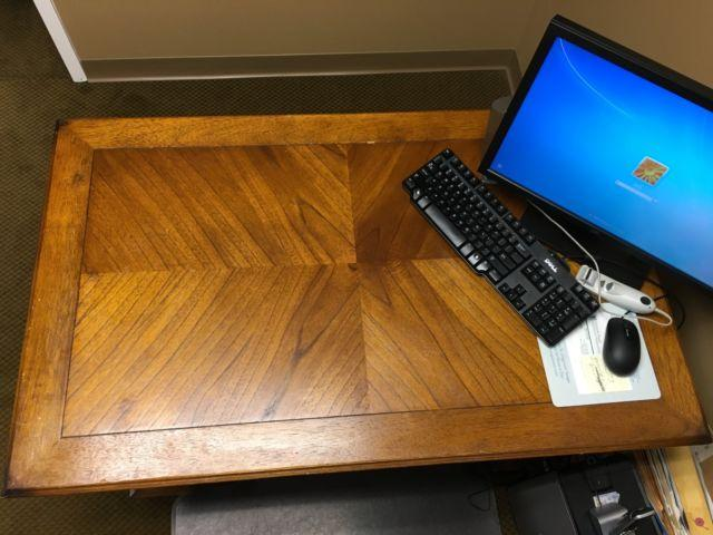 Good Condition Hard Wood Desk/Table