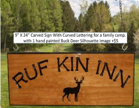 Personalized Carved Wood Signs ~ for horse stalls, camp, cabin, home