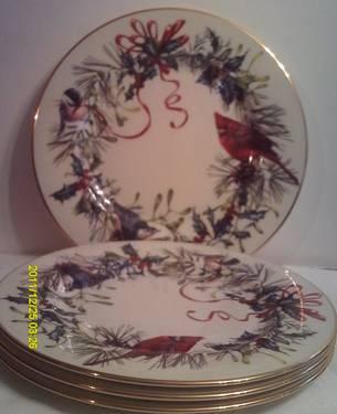 Set Of 2 Blue Dresden Sheffield Plates