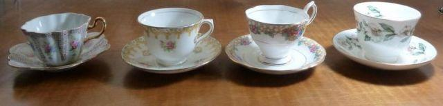 Tea cups and Saucers (4)