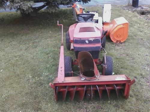 Toro Wheelhorse riding lawn tractor with snowblower attachment
