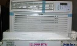 Item #52716-5 Brand New High Efficiency 12,000-BTU Room Through-The-Wall Air Conditioner Only $399 Model # Haier HTWR12VCK MSRP $599.99 Condition: New Bad Box Item With Factory Warranty - Photos Attached 230/208 Volt Electronic Controls Full Function