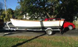 Please call owner Paul at 845-516-4499. Boat is in Rhinebeck, New York. 1987 Amesbury Skiff with 2005 25 horse 2 stroke engine and 2015 sea lion trailer