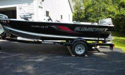 "Call Boat owner Tom 585-720-0123.2008 Alumacraft Classic 165CS and Custom Eagle trailer package is like new, used only ""20"" times! Trolling motor has never been used! This complete package has been stored in an insulated garage and has never seen a winter"