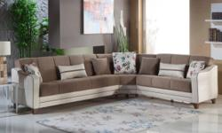 Quick and FREE Shipping within New York City. For more information call us or visit our page: https://www.furniturenyc.net/catalogue/sectional-sofas.html This modern sectional sofa consists of 3 seater, 1 seater and corner seat. The sleek tube leg base is