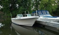 Call Boat Owner Terry 508-410-1234.Basic Decription: 1987 Trailer.Recent work includes new fuel filter, carbs cleaned, hoses recently replaced, water separator, fuel sender, and pole light. New set of fenders. gas tank is approx 50 gal and was replaced