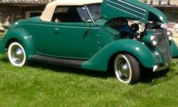 1936 Ford Roadster (NY) - $65,000 Exterior: Armory Green Interior: Original Brown Transmission: Manual Mileage: unknown Detailed Restoration information available. Many NOS parts. Complete Frame off restoration (start in 1979 and ended in 1986). Seller
