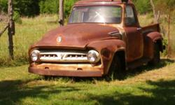 FORD F-100 TRUCK, PLEASE READ: VINTAGE / NOT A ROT ROD, SMALL REAR WINDOW! MODEL, V8 FLAT., TRUCK IS ONE OWNER 50TH ANIVERSARY EDITION! - GRAND-FATHERS ARKANSAS TRUCK, IT HAS SET OUTSIDE SINCE HE PARKED IT, LICENSED & DRIVEN UP TO EARLY 1970 'S ('71-'73)