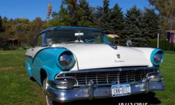 1956 Ford Victoria 2DR HT for sale (NY) - $17,900 Exterior: White & Blue Interior: matching Vinyl Transmission: Automatic Engine: 312 Near Perfect Condition. Frame up Restoration 14 years ago, All original; Numbers matching 2 Door; Hardtop. Power