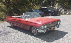 1961 Cadillac Series 62 convertible rare. 84000 miles In beautiful condition Registered and ready to go. Original paint.
