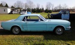 Come check out this restorable 1965 Ford Mustang for sale. It's in good condition and runs! I'm looking to sell this car as-is for $6,000 or best offer. Restoration options are also available. As the owner of Tim's Auto Body and Restoration, I've been