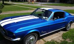We have a 1968 mustang fastback c code California built car this is a conversion car was a coupe originally but was professional converted car has all glass back interior is all there except for the trap door and a 3 trim strip pieces has new dual exhaust