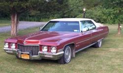This 1971 Cadillac is gorgeous, 95% original and runs amazing. It is registered and driven daily in good weather. This 1971 Cadillac Sedan DeVille has never seen salt, never seen snow. It has the original paint and most of the original parts. It can be