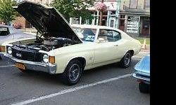 selling my pride & joy, down sizeing , is my 1972 chevelle super, sport. older restoration, retains all its original body pannels, floors, and trunk. . frames excellent condition. the bodys not perfect but shows well, little bubbling under paint on bottom