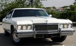 This particular 1973 Cadillac Coupe Deville is finished in White color with Green cloth interior. This vehicle has 27K miles shown on odometer. Vehicle will be sold as is and with true mileage unknown. The exterior needs body work, has some rust spot