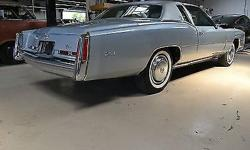 Condition: Used Exterior color: Silver Interior color: Blue Transmission: Automatic Engine: 8 Drivetrain: FWD Vehicle title: Clear Body type: Coupe DESCRIPTION: 1975 Cadillac Eldorado Hardtop1-Owner 5,551 MilesSilver/BlueASC Astro-Moonroof This car is