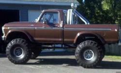1978 Ford F150 Classic Truck 1978 F150 4x4 12 in lift picture is posted with 44 in super swampers like new. It has 265, 75, r15 on it now. The rim on it right now reconditioned primed and painted match the color of the truck. I have about a half pint for