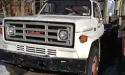 For Sale a 1986 GMC C70 Rollback work horse. Great condition for the year. Big block chevy gas motor. Five speed transmission. Buy this an you won't have to turn down tow jobs because your present truck can't handle it. Asking price $6.000 or best offer,