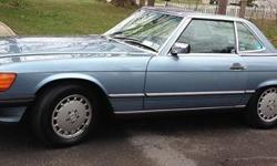 1989 Mercedes-Benz 560SL for sale (NY) - $13,999 REDUCED PRICE!!!! 82k miles. Baby Blue exterior & interior. Automatic. Vehicle was very well maintained- with over $6k in reciepts. Hard AND soft top. Comes with carrier and car cover. Call Dennis @