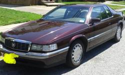 1993 Cadillac Eldorado. Only 91,000 original miles. It has a great running 4.9 Ltr engine. ( not the north star ) its maroon with tan leather interior. Very clean inside and out. Runs great ! Must see and drive.