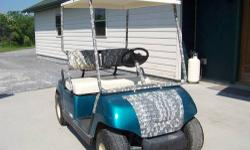 1997 Yamaha G-19E - Electric Golf Cart - comes with 6 batteries which are only a few years old.it is 48 volts....also comes with charger....there is a cover that has clear windows also... it is in great condition....you can call at: 315-686-4223 or