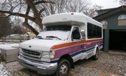 1998 Ford 7.3 Liter Turbo Diesel E350 Cutaway Bus Van in Remarkable Condition and with only 23,368 certified miles. It belonged to the Veteran's Administration in New Jersey and was used mostly on their campus. It runs perfectly and is like new inside. It