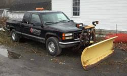 1998 GMC Sierra 4x4 Pickup, 135000 miles, well maintained with regular oil changes. Tires like new, chrome rims, Electric mirrors, locks, windows & seat, new remote car starter, Comes set up for Fisher plow but PLOW DOES NOT GO WITH THE TRUCK. Runs and