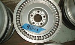 SIlver alloy wheel used