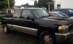 REDUCED: For Sale 2002 GMC Sierra 1500 black and gray. Inspected 7/2014. Reliable good running truck with new brakes all the way around including new calipers (less than 300 miles on them) and an additional set of tires in nearly new condition. Has approx