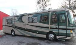 This is my beautiful 2002 Holiday Rambler Imperial 38' diesel motorhome. You can research on the web what the Imperial 39.6' PBD came with standard & I will list all the options that were installed at the factory at the time this coach was built new. The