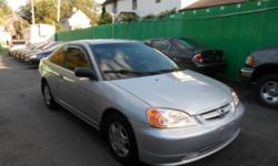 2002 HONDA CIVIC 89k $3800 REMOTE START BEEPER ALARM TINTED WINDOWS RAIN GUARDS Fully Loaded, STEREO AM/FM/ CD PLAYER Heat A/C, Power Windows, Power Door Locks, REMOTE Alarm, 2-DOOR AUTOMATIC, FULL POWER, DUAL AIRBAGS, ABS BRAKES Tilt, Cruise, Dual Air