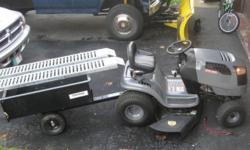 "simplicity landlord dlx tractor with power steering. 20V-twin 50"" cut. .Excellent condition .Always garaged. Buyer provides transportation of tractor to his location."