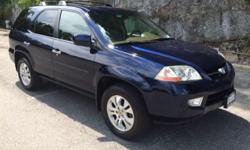 Great Condition 2003 Acura MDX, Midnight blue with beige interior, Car is very clean in and out. Everything works, no known problems. The truck has 88k miles V6 all wheel drive, also has remote start and 3rd row seat. Truck is located in yonkers NY any