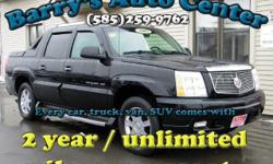 **Get a FREE 2 Year Unlimited Mileage Warranty!!** Get all the luxury you want and more for a great price this Winter!! This Escalade has it all and more; the miles are right, and its loaded up with power windows, locks, sunroof, heated leather power