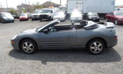 2003 Mitsubishi Eclipse Spyder GS Leather Convertible $3700 Leather-Power-Heated Seats 2 DOOR CONVERTIBLE AM/FM/CASS/CD, Heat, A/C, Leather, Power Seats, Dual Air Bags, Power Windows, Power Door Locks, Factory Tint, Alloys, Alarm, Clean in/out. Runs