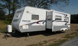 Type of RV: Travel Trailer Year: 2004 Make: Keystone Model: Sprinter 307BHW Length: 30 # of slide-outs: 1 Sleeps how many: 8 Number of A/C Units: 1 Awnings: 1 Price: 9995 695905 - 2004 30' Keystone Sprinter Travel Trailer, Model 307BHW (google for floor
