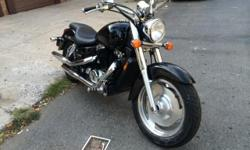 i have 2004 HONDA SHADOW SABRE VT 1100. (1100CC). Drive shaft. 7000 miles! Clean NY title. Ready to go! Was used for pleasure rides. Mostly out of the city(Upstate, long Island and Costal NJ). Great bike. Very reliable. Just fill up and go. Maintained on