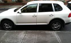 white porsche cayenne s with beige leather interior has 118k miles a/c and heat work asking $14500 please call chris 347-500-1342