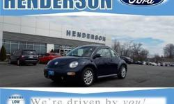 5-Speed Manual, Cloth, AM/FM radio, CD player, Panic alarm, Security system, and Speed control. So clean, you can't even tell it's used.If you're looking for an used vehicle in terrific condition, look no further than this 2004 Volkswagen Beetle. You